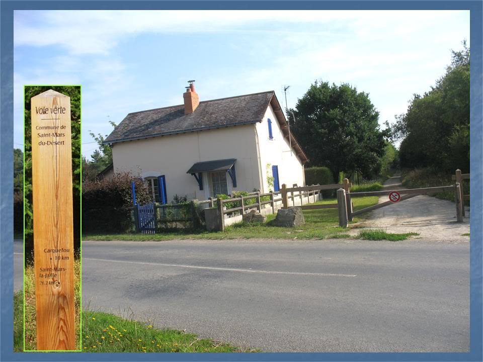 Ligne de Nantes - Segré (1185-1988) Voie Verte de Carquefou à St Mars la Jaille  13-PNsurRD31StMarsduDsert