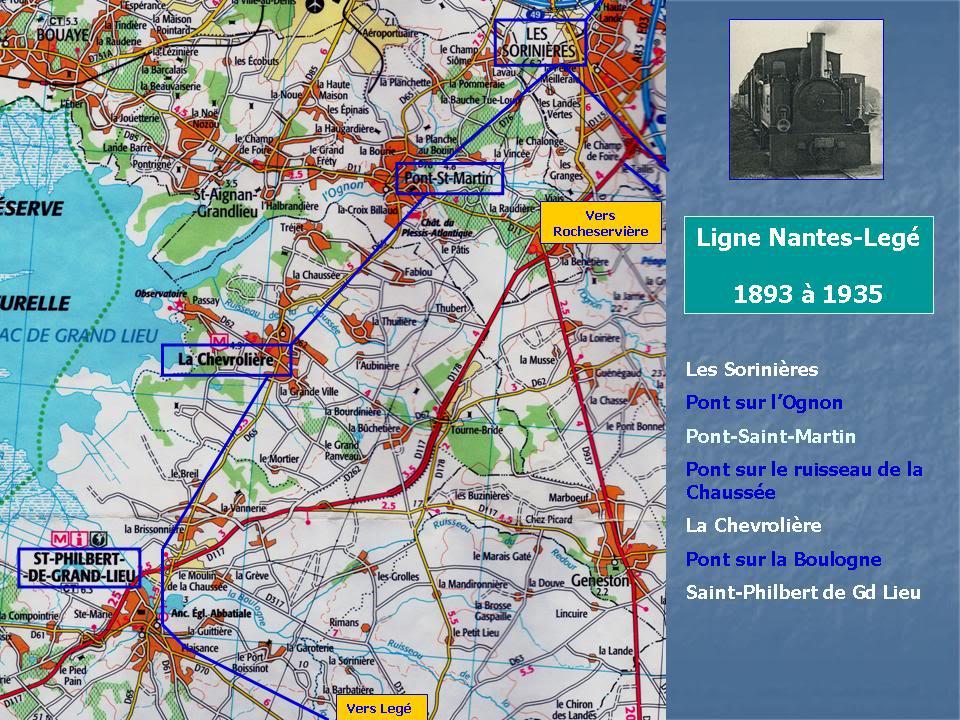 Ligne de Nantes-Legé de gare en gare (1893-1935) 14-CarteLesSorinires-StPhilbert-1
