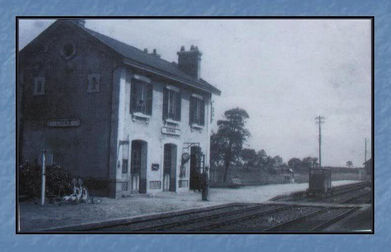 Ligne de Nantes - Segré (1185-1988) Voie Verte de Carquefou à St Mars la Jaille  14-CatepostaleanciennedeLign