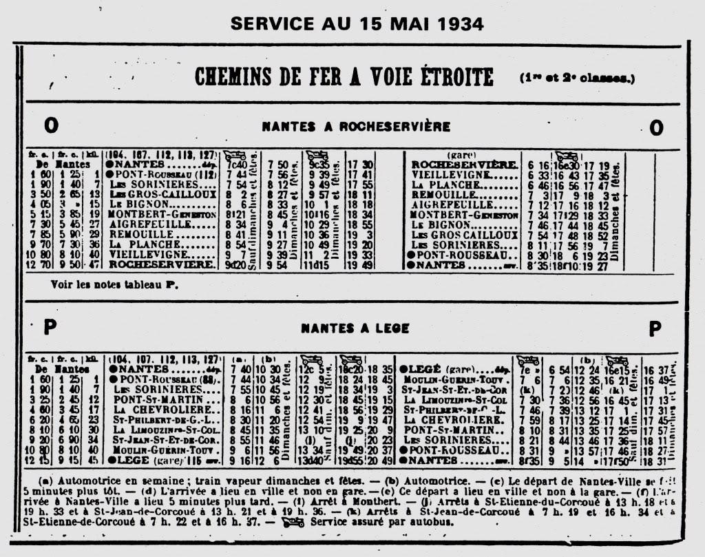 Ligne Les Sorinières (44) à Rocheservière (85) de gare en gare (1903-1938) 18-Page18-15mai1934
