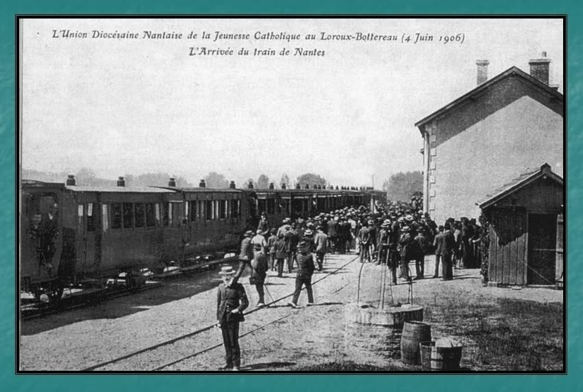Ligne du Petit Anjou en 44 de Nantes à La Remaudière (1899-1947) 19-LeLorouxBottereauen1906