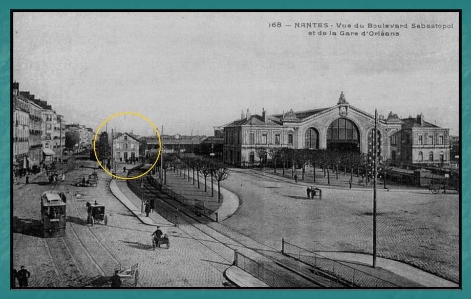 Ligne du Petit Anjou en 44 de Nantes à La Remaudière (1899-1947) 2-GaredupetitAnjouNantes