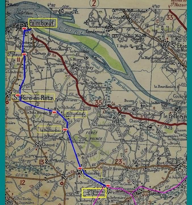 Ligne de St Hilaire de Chaléons à Paimboeuf de 1876 à nos jours 2-LaligneStHilaire-Paimboeufcarte1939