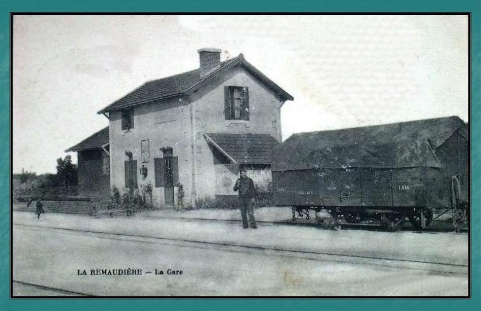 Ligne du Petit Anjou en 44 de Nantes à La Remaudière (1899-1947) 24-LaRemaudire