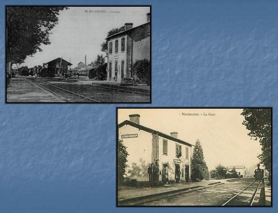Gare de Machecoul - Ligne de Nantes-St Gilles Croix de Vie  3-CartespostalesanciennesdeMachecoul