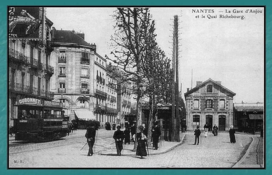 Ligne du Petit Anjou en 44 de Nantes à La Remaudière (1899-1947) 3-LaGaredAnjouNantes