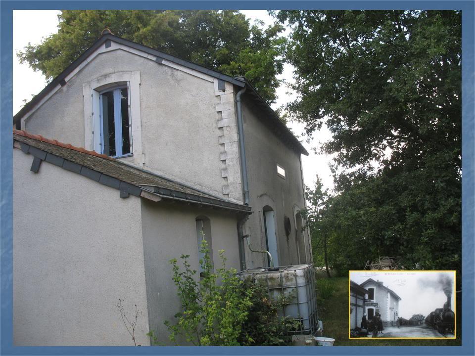 Ligne de Nantes - Segré (1185-1988) Voie Verte de Carquefou à St Mars la Jaille  34-Avant-aprshaltedeTeillversStMars