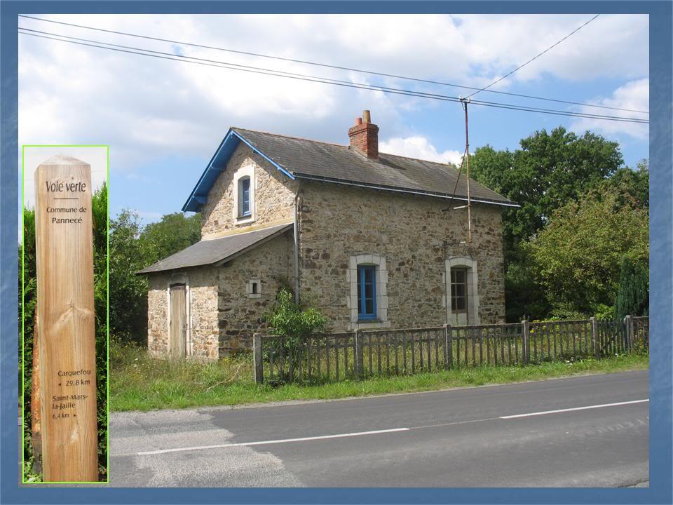 Ligne de Nantes - Segré (1185-1988) Voie Verte de Carquefou à St Mars la Jaille  39-MaisonettecommunedePannecRD21