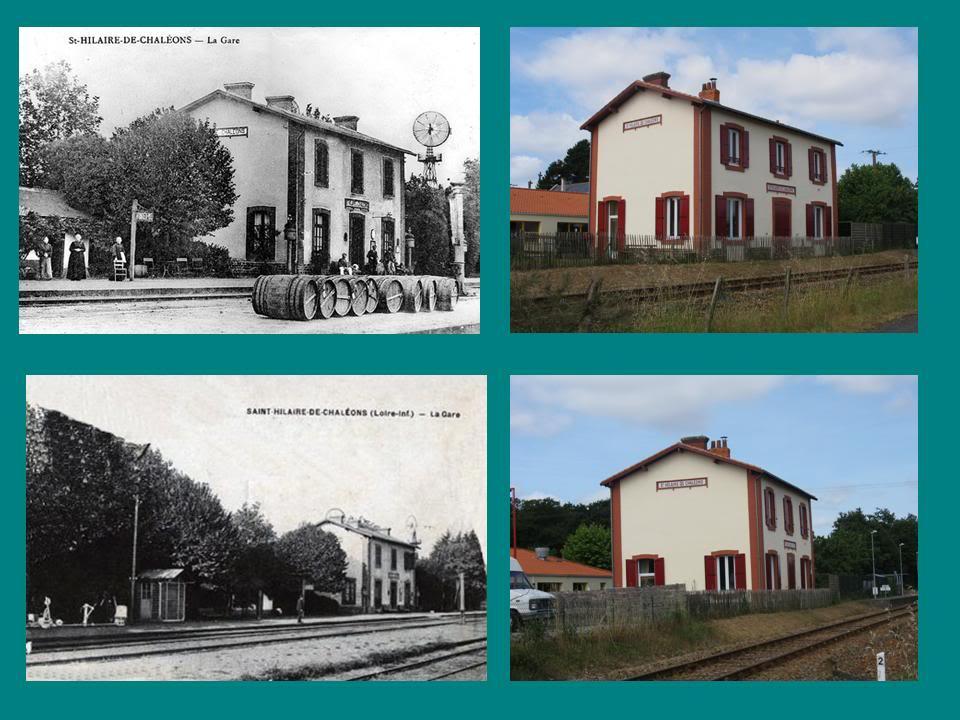 Ligne de St Hilaire de Chaléons à Paimboeuf de 1876 à nos jours 4-Avant-aprsStHilairedeChalons