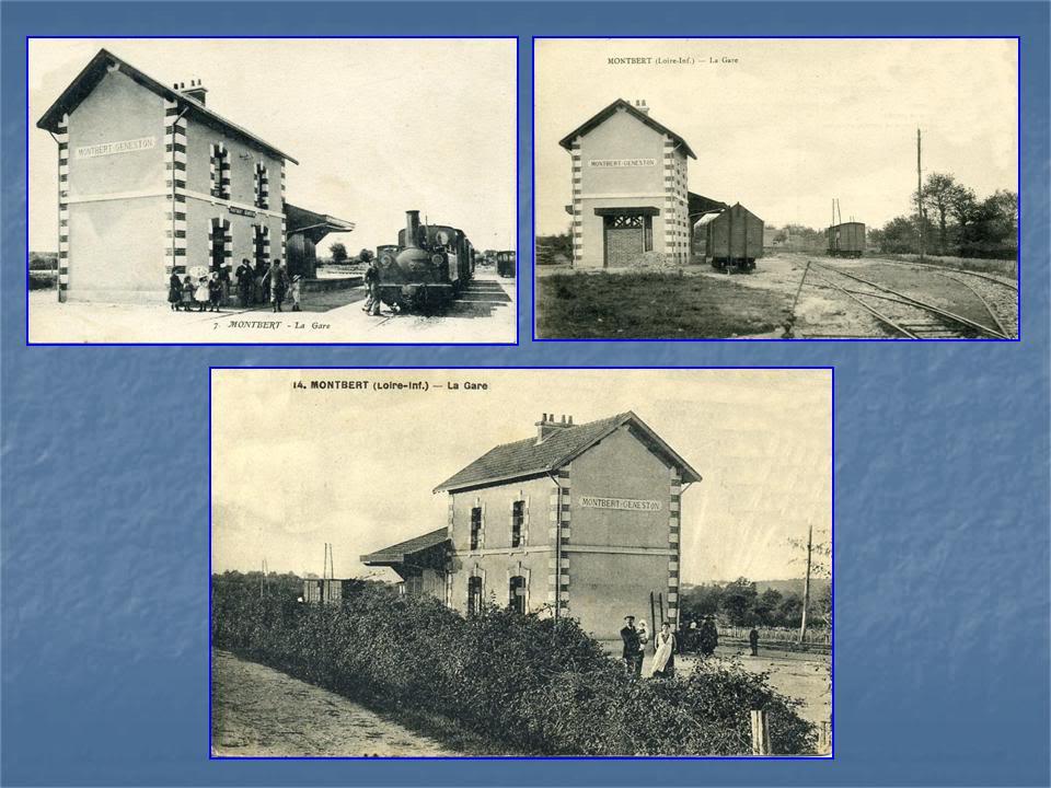 Ligne Les Sorinières (44) à Rocheservière (85) de gare en gare (1903-1938) 4-Montbert-Geneston