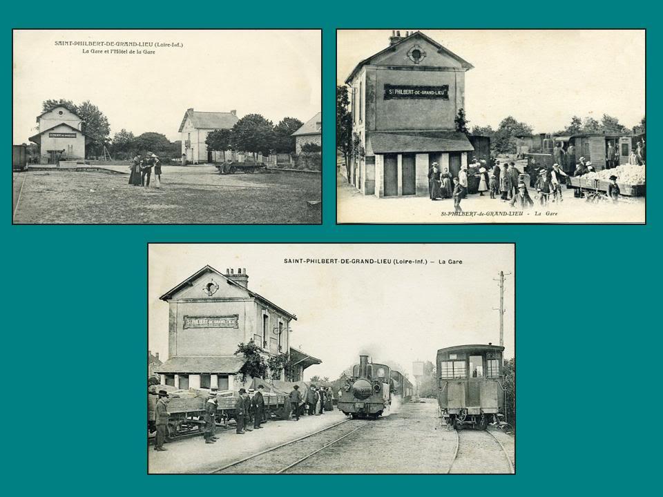 Ligne de Nantes-Legé de gare en gare (1893-1935) 41-SaintPhilbertdeGrandLieu-1