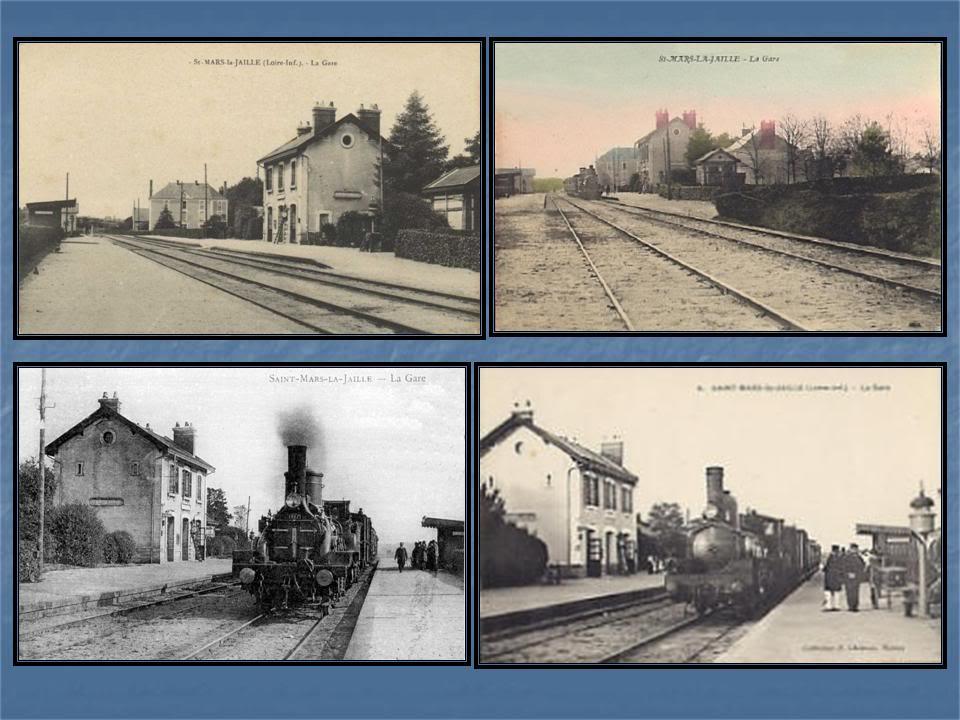 Ligne de Nantes - Segré (1185-1988) Voie Verte de Carquefou à St Mars la Jaille  44-CartespostalesanciennesdeStMars
