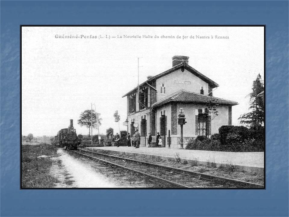 Ligne de La Chapelle sur Erdre - Blain - Beslé (1901-1910-1952) 45-CarteancienneGumnville