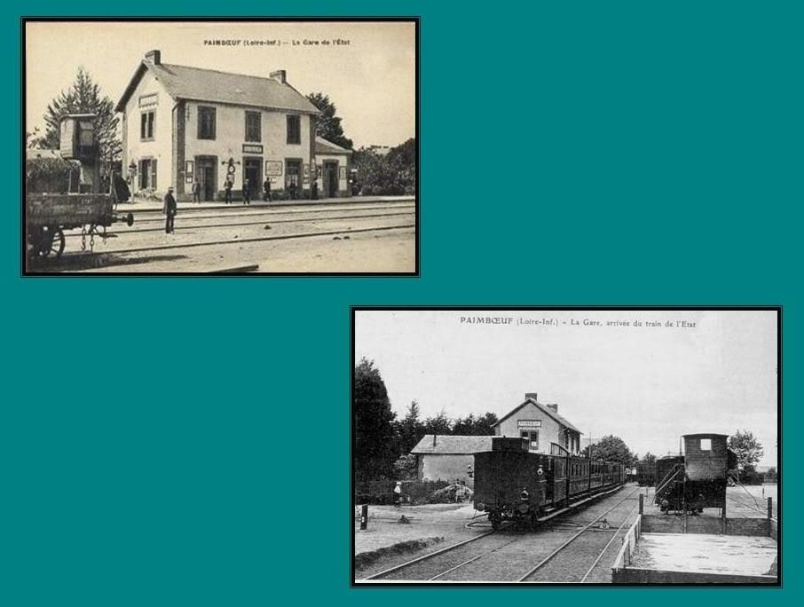 Ligne de St Hilaire de Chaléons à Paimboeuf de 1876 à nos jours 47-CartespostalesanciennesPaimboeuf