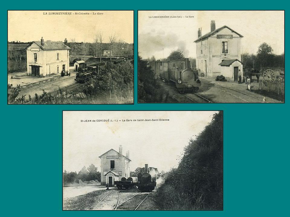 Ligne de Nantes-Legé de gare en gare (1893-1935) 49-LaLimouzinire-StColombin-StJeanStEtiennedeCorcou-1