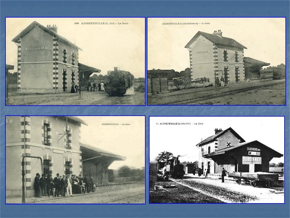Ligne Les Sorinières (44) à Rocheservière (85) de gare en gare (1903-1938) 5-Aigrefeuille