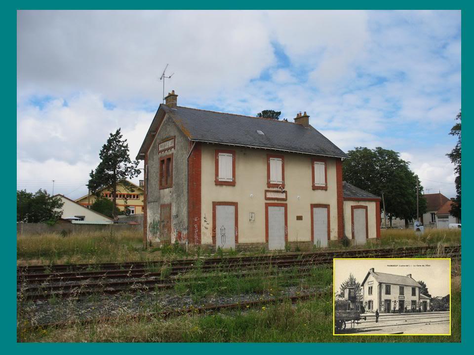 Ligne de St Hilaire de Chaléons à Paimboeuf de 1876 à nos jours 52-Avant-aprsPaimboeufctvoies