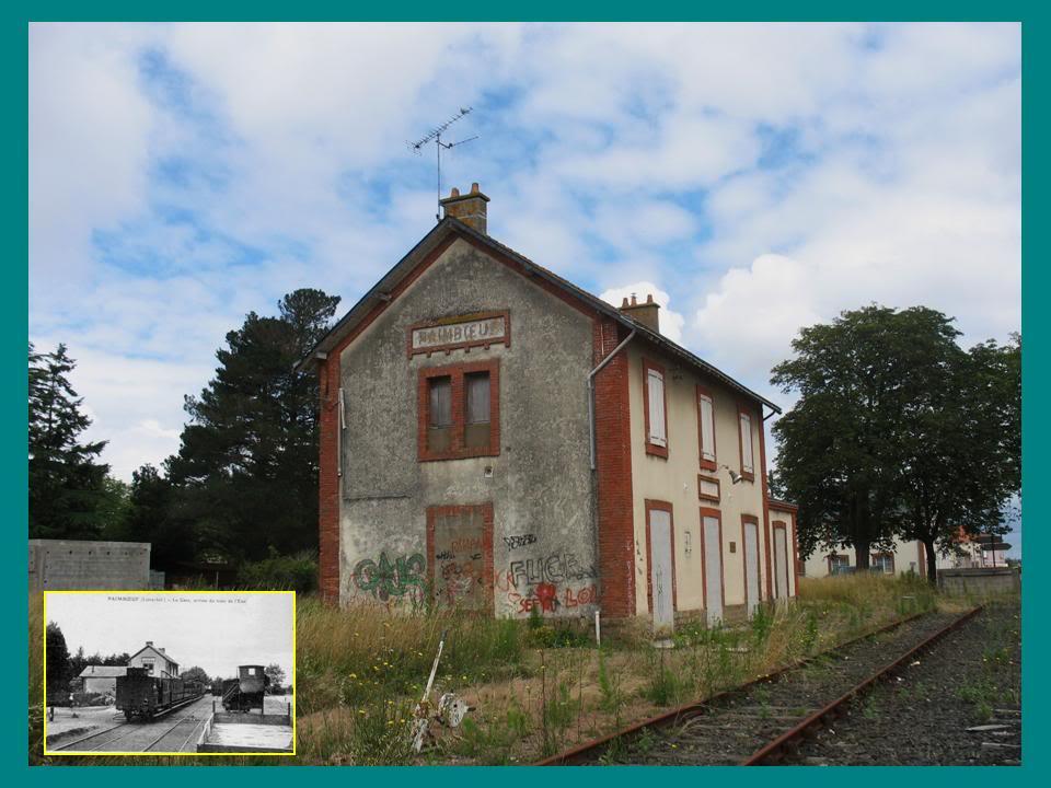 Ligne de St Hilaire de Chaléons à Paimboeuf de 1876 à nos jours 53-Avant-aprsPaimboeufctquai