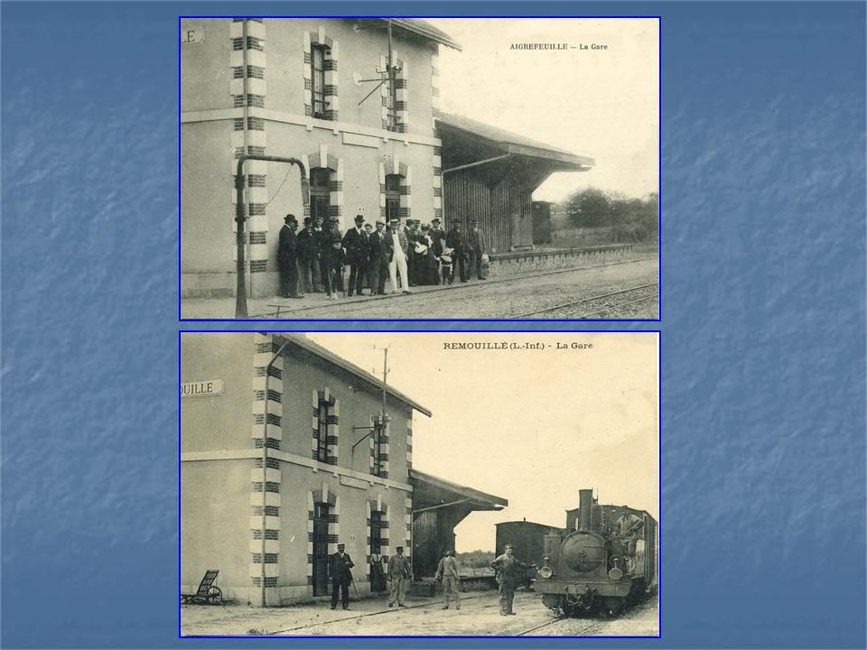 Ligne Les Sorinières (44) à Rocheservière (85) de gare en gare (1903-1938) 6-Aigrefeuille-Remouill
