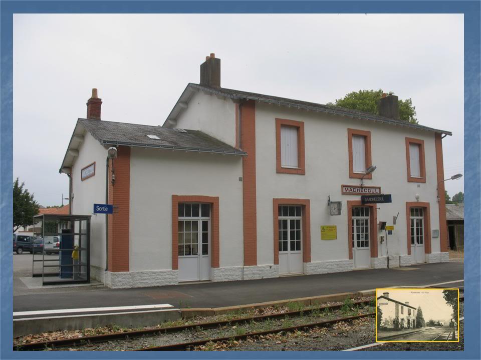 Gare de Machecoul - Ligne de Nantes-St Gilles Croix de Vie  6-avant-aprsMachecoulctquai