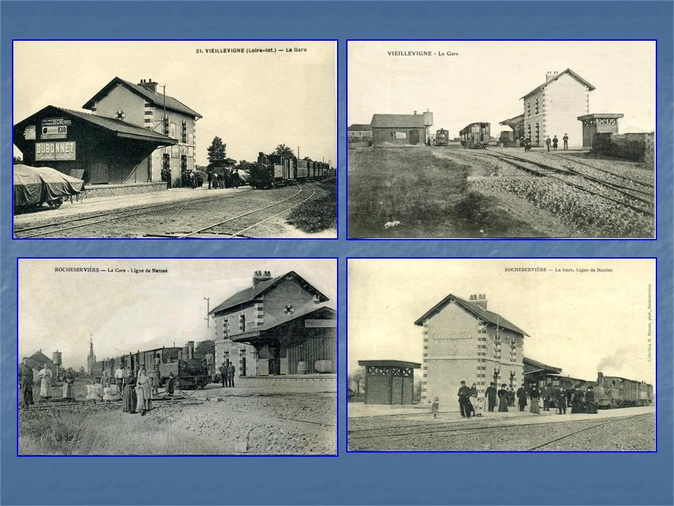 Ligne Les Sorinières (44) à Rocheservière (85) de gare en gare (1903-1938) 7-Veillevigne-Rocheservire