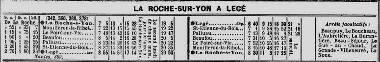 Ligne de Nantes-Legé de gare en gare (1893-1935) 72-Chaix_1914-1