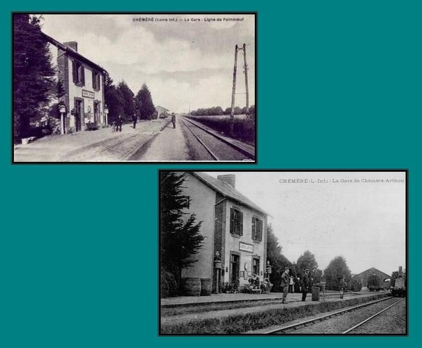 Ligne de St Hilaire de Chaléons à Paimboeuf de 1876 à nos jours 9-CartespostalesanciennesChmr-Arthon
