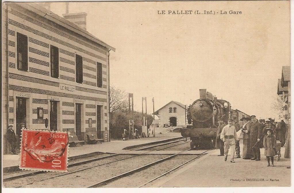 Les Gares de Nantes à Clisson - Ligne de Nantes-Saintes LePallet1913