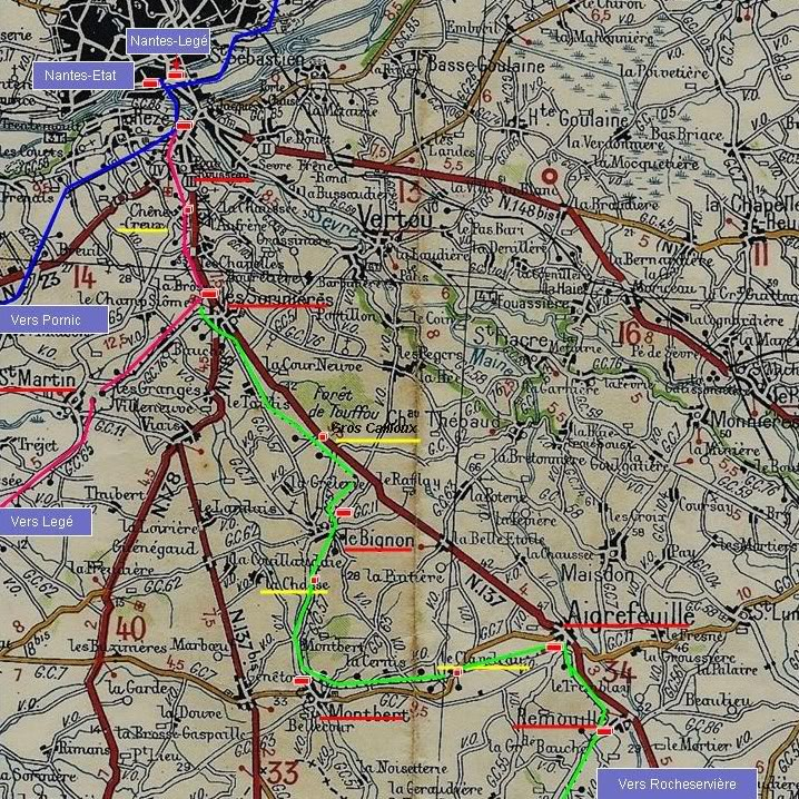 Ligne Les Sorinières (44) à Rocheservière (85) de gare en gare (1903-1938) LesSoriniresRemouill-1