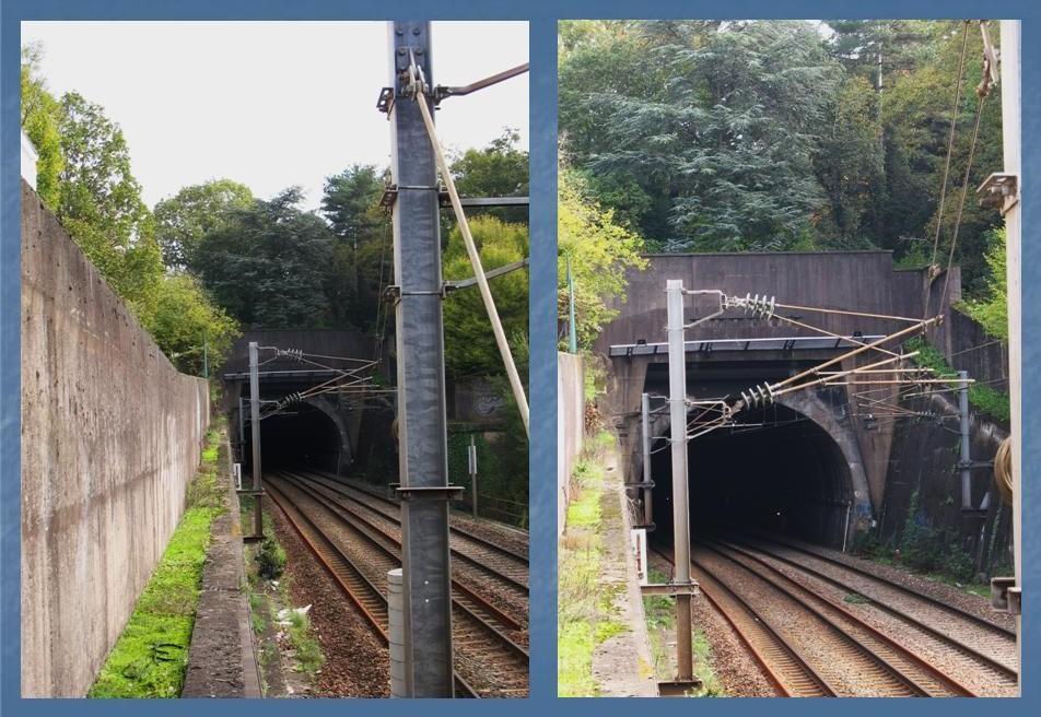 Les gares de Nantes à Savenay - Ligne Nantes-Le Croisic-Redon-Quimper 12-ChantenaylentreacuteedutunnelversNantes