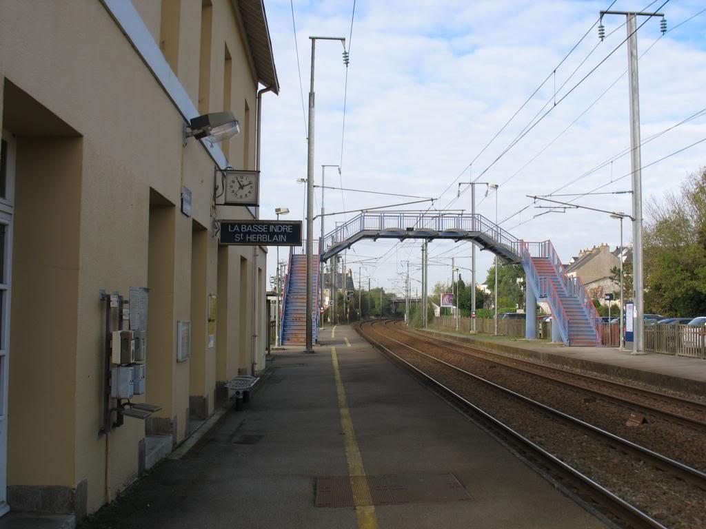 Les gares de Nantes à Savenay - Ligne Nantes-Le Croisic-Redon-Quimper 18-Basse-IndreStHerblainversNantes