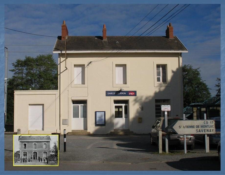 Les gares de Nantes à Savenay - Ligne Nantes-Le Croisic-Redon-Quimper 22-Coueacuteronavant-apregraves