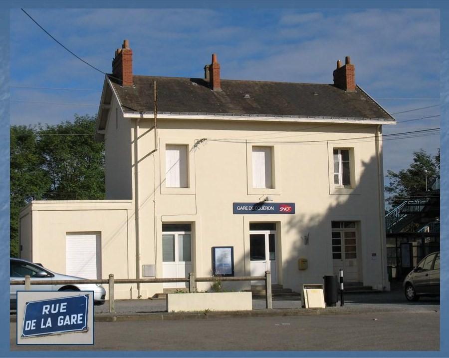 Les gares de Nantes à Savenay - Ligne Nantes-Le Croisic-Redon-Quimper 23-CoueacuteroncocircteacuteRuedelaGare