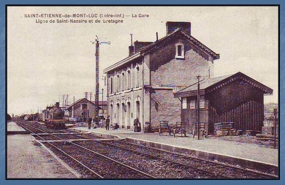 Les gares de Nantes à Savenay - Ligne Nantes-Le Croisic-Redon-Quimper 29-StEtiennedeMontlucavant