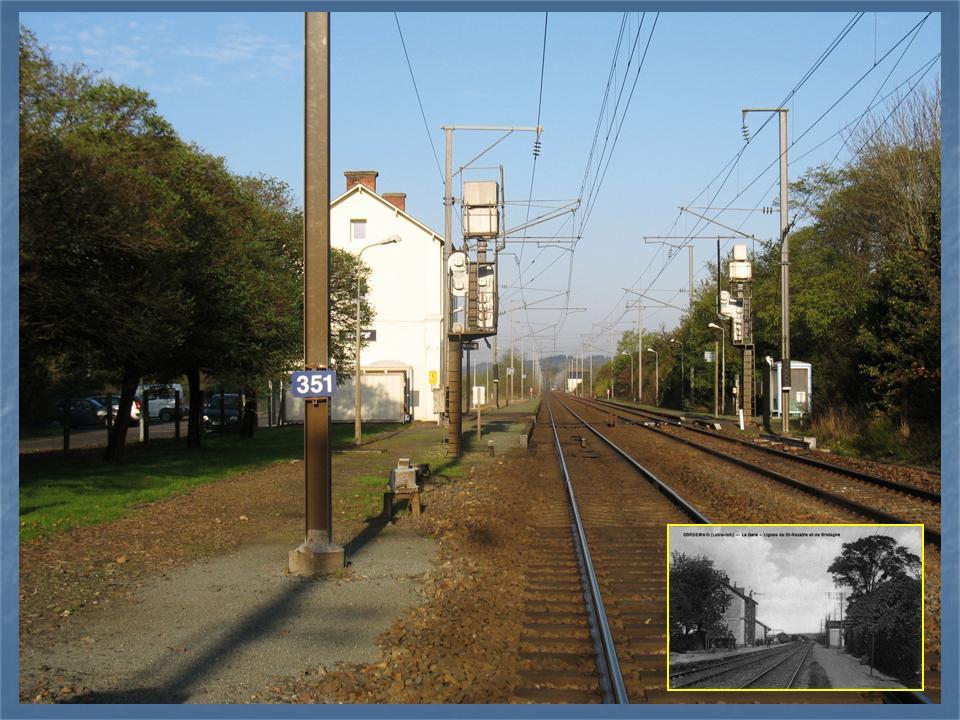 Les gares de Nantes à Savenay - Ligne Nantes-Le Croisic-Redon-Quimper 43-CordemaisavantapregravesPN351