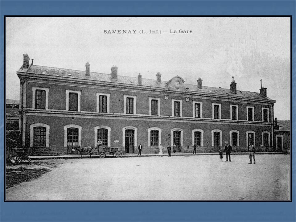 Les gares de Nantes à Savenay - Ligne Nantes-Le Croisic-Redon-Quimper 47-Savenayavant