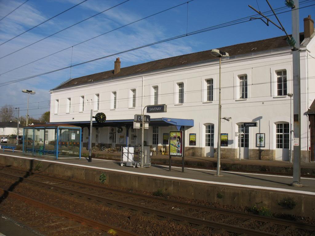 Les gares de Nantes à Savenay - Ligne Nantes-Le Croisic-Redon-Quimper 50-SavenayBVcocircteacutequais