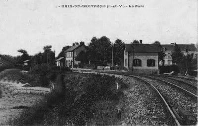 La gare de Bain de Bretagne Ligne de Châteaubriant-Messac-Ploermel Baindebgne
