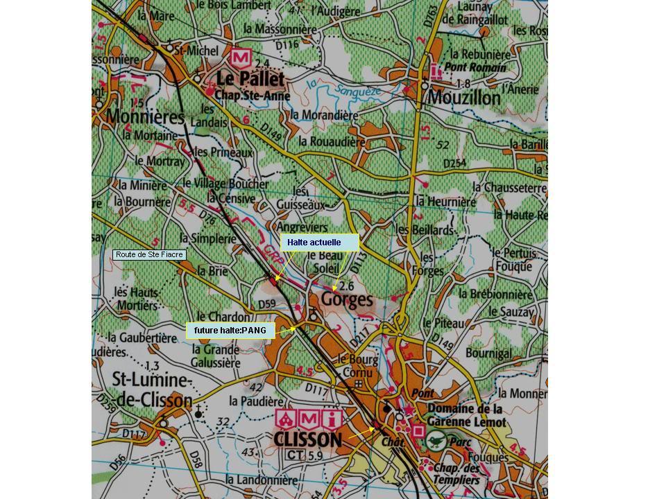 Les Gares de Nantes à Clisson - Ligne de Nantes-Saintes Gorges