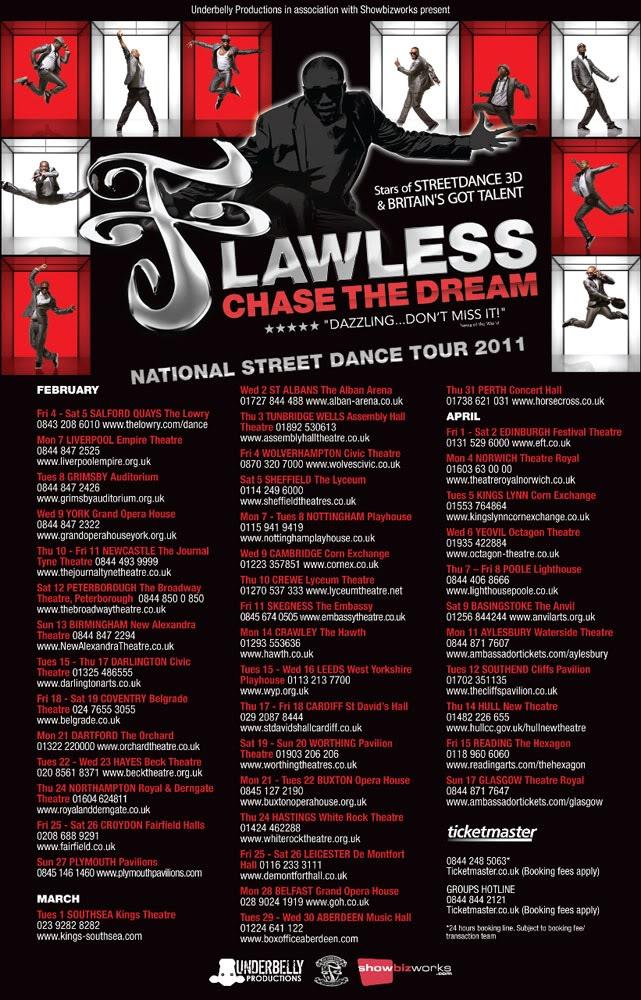 FLAWLESS: LIVE STREET DANCE DVD FlawlessTourAdvert2