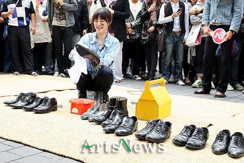 [NEWS] Hye Sun đi đánh giày (Win Win-KBS) T3408841