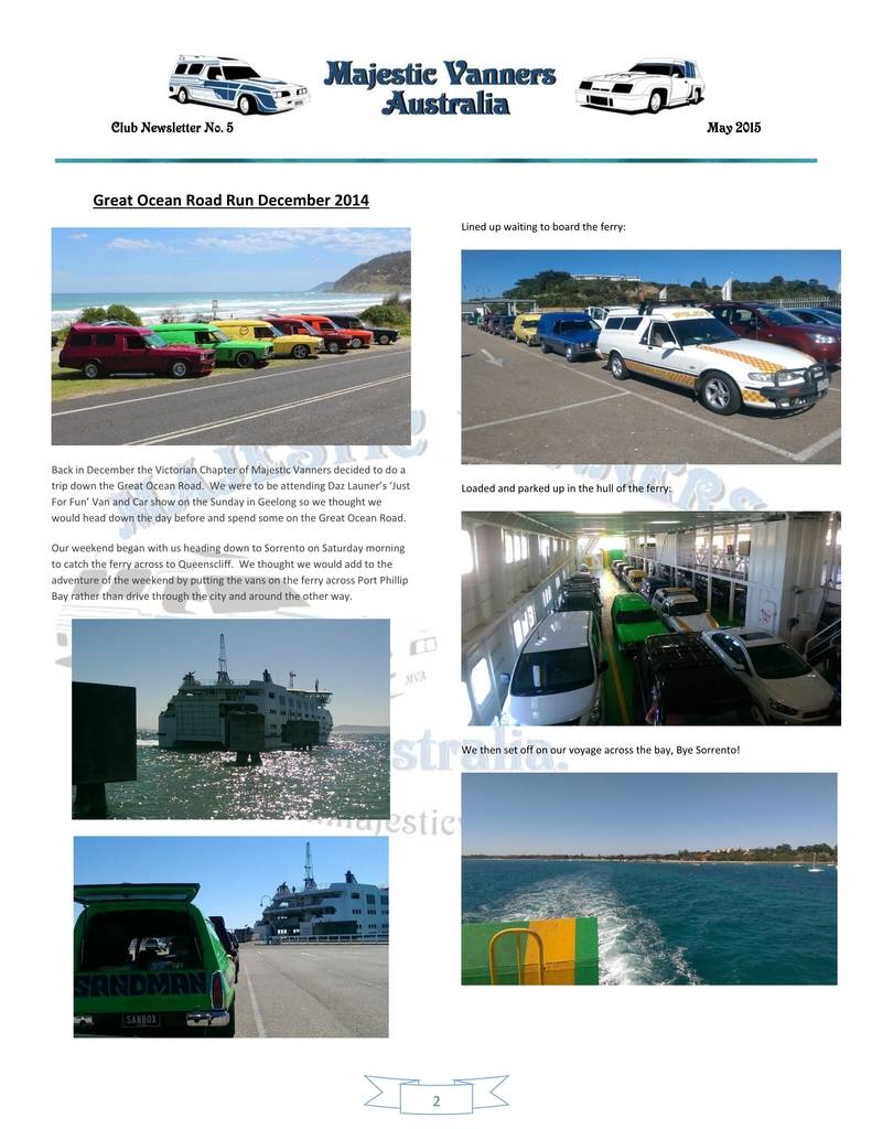 Majestic Vanners Newsletter Issue No.5 May 2015 02_zps1hj7vsqx