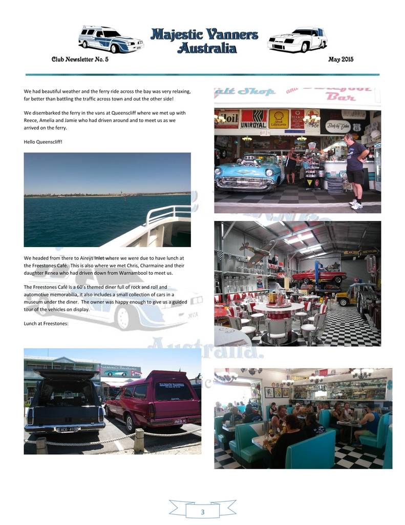 Majestic Vanners Newsletter Issue No.5 May 2015 03_zpswavenxp9