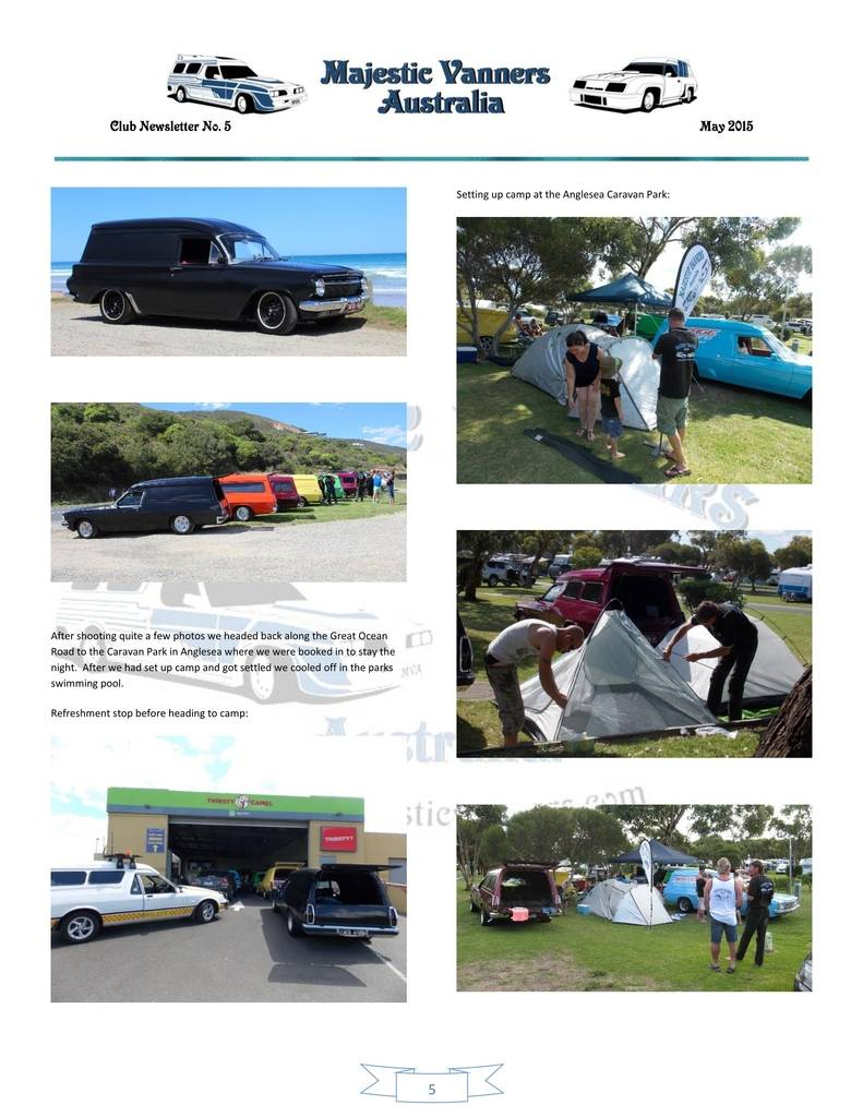 Majestic Vanners Newsletter Issue No.5 May 2015 05_zpsduok47df