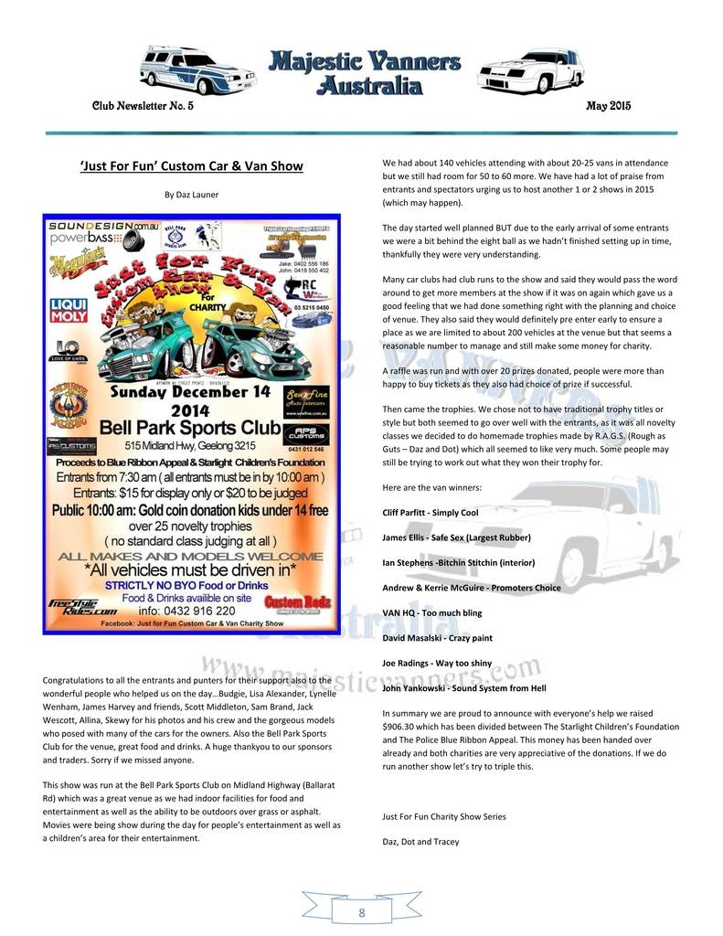 Majestic Vanners Newsletter Issue No.5 May 2015 08_zps5j1rbp1w