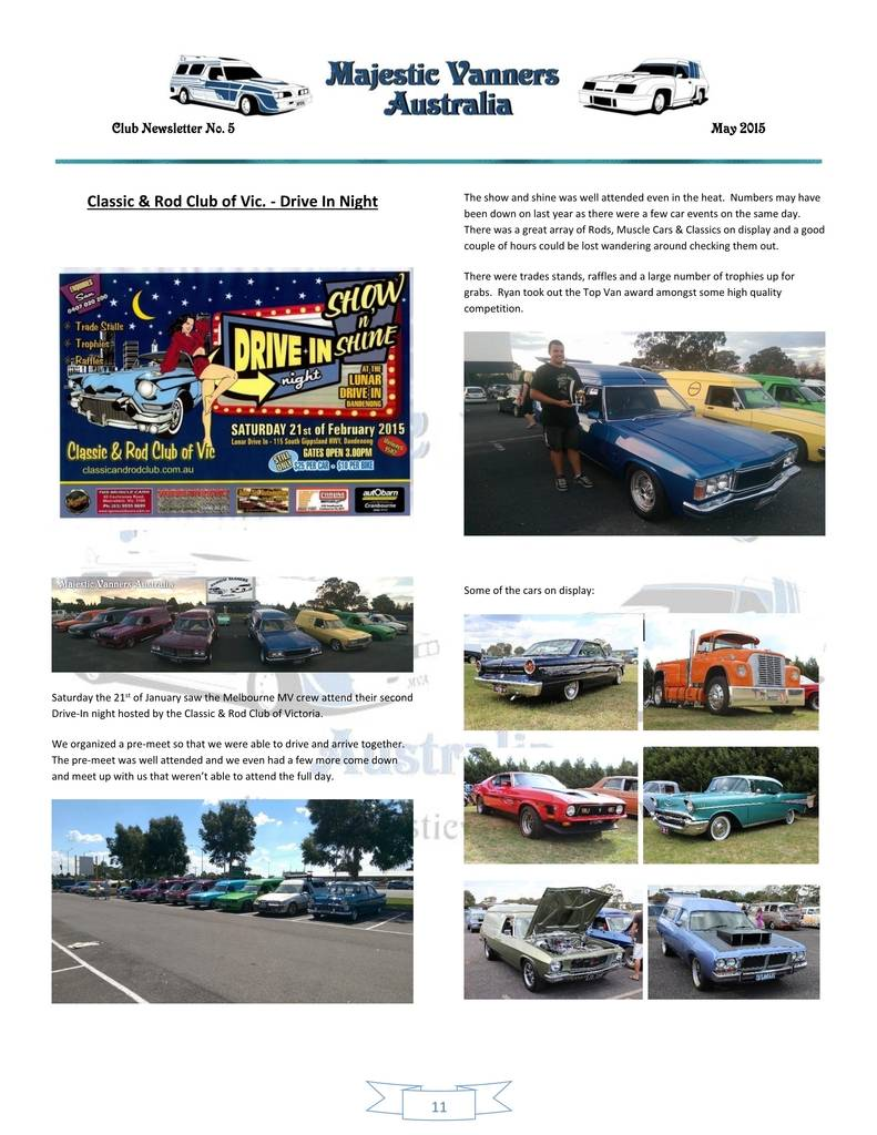 Majestic Vanners Newsletter Issue No.5 May 2015 11_zps6l0n1e51