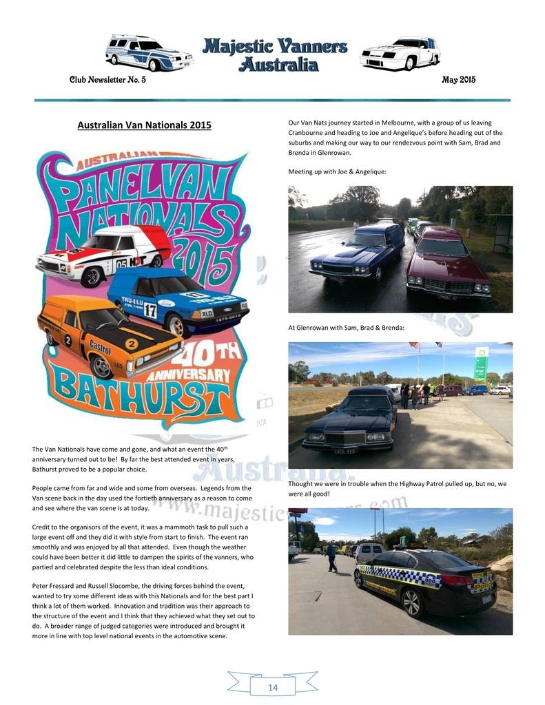 Majestic Vanners Newsletter Issue No.5 May 2015 14_zps7ynfgebx