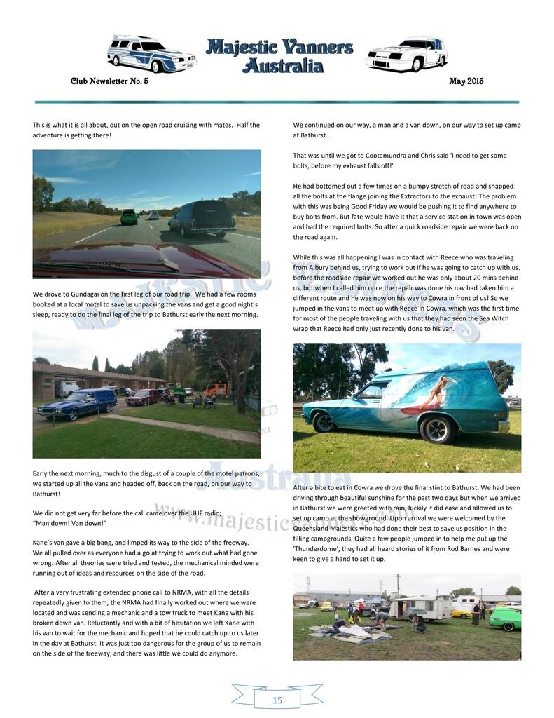 Majestic Vanners Newsletter Issue No.5 May 2015 15_zpsilrsbbip