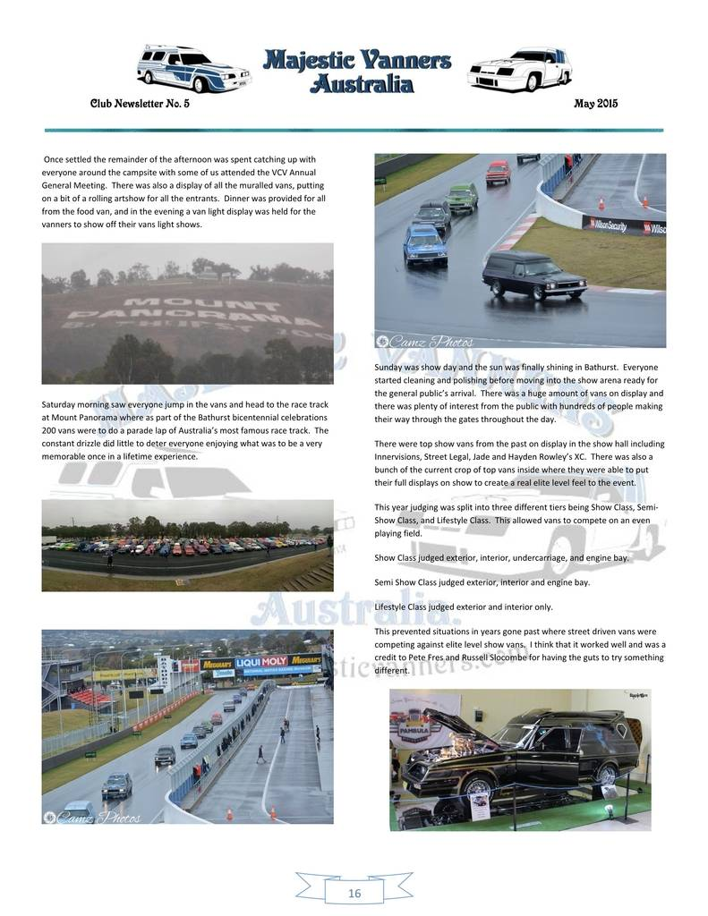 Majestic Vanners Newsletter Issue No.5 May 2015 16_zps8uranw6k
