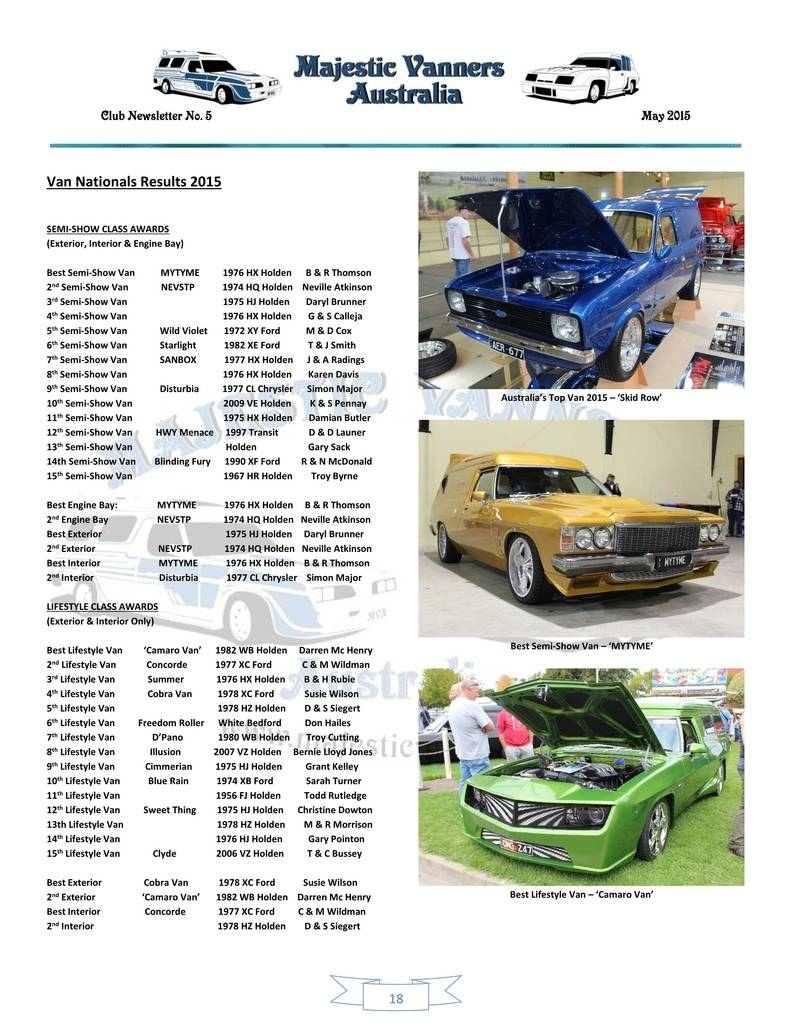 Majestic Vanners Newsletter Issue No.5 May 2015 18_zpsxe98wfiv